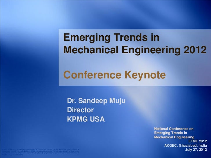 Emerging Trends in                                                                                            Mechanical E...