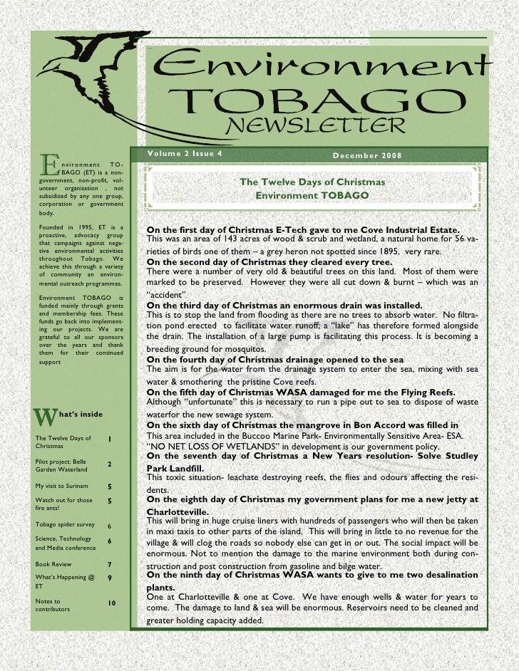 E T Newsletter    Dec 2008