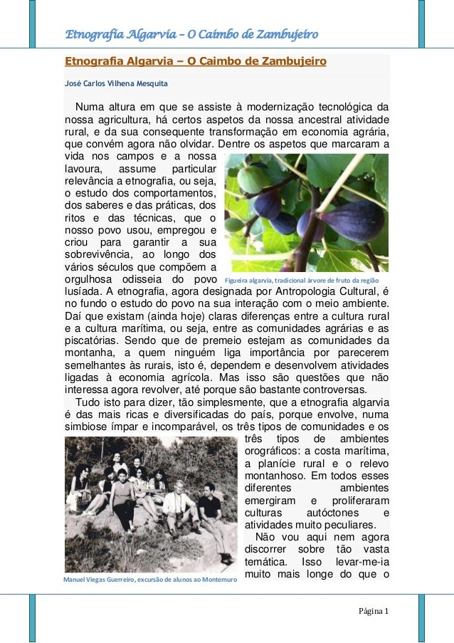 Etnografia Algarvia - O Caimbo de Zambujeiro