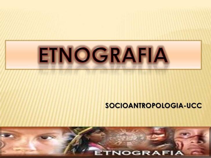 SOCIOANTROPOLOGIA-UCC
