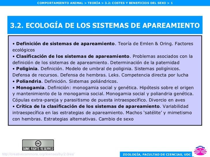 3.2. ECOLOGÍA DE LOS SISTEMAS DE APAREAMIENTO <ul><li>Definición de sistemas de apareamiento . Teoría de Emlen & Oring. Fa...