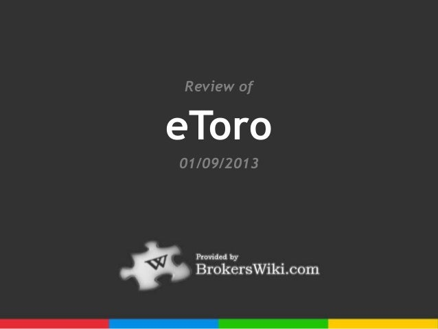 Profile and Review of eToro Forex 2013