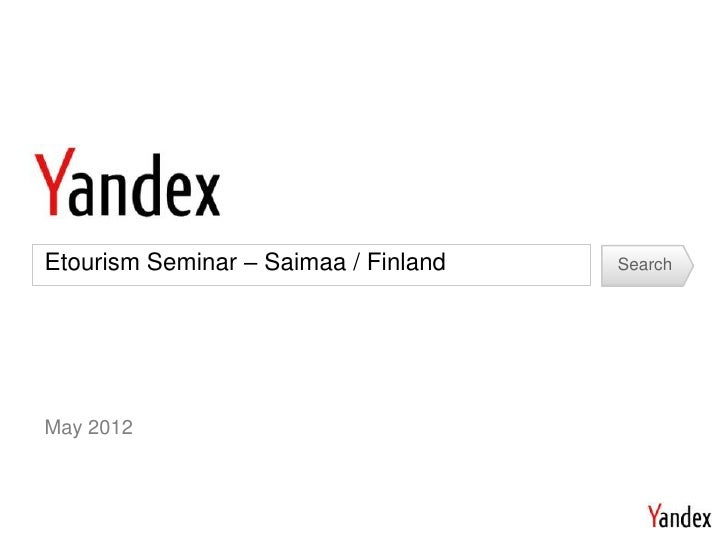 Etourism Seminar – Saimaa / Finland   SearchMay 2012