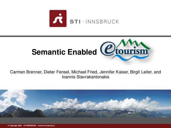 Semantic Enabled Etourism