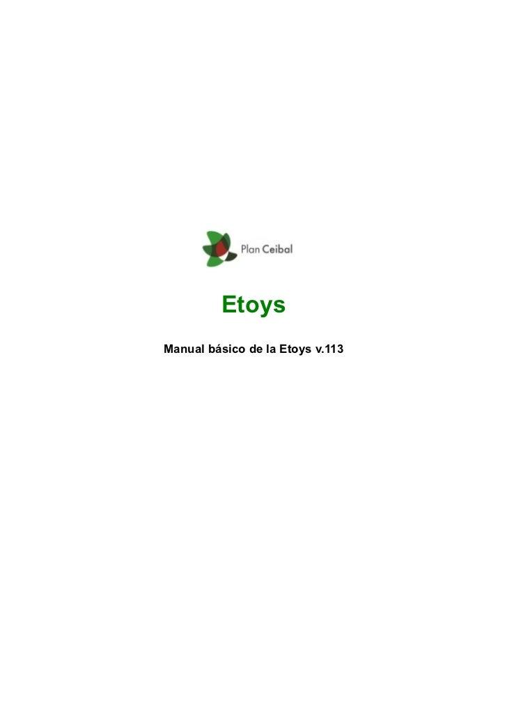 EtoysManual básico de la Etoys v.113