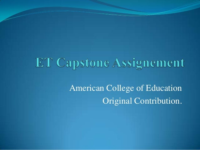 American College of Education Original Contribution.