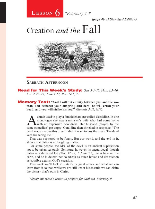 Lesson            6       *February 2–8                                                        (page 46 of Standard Editio...