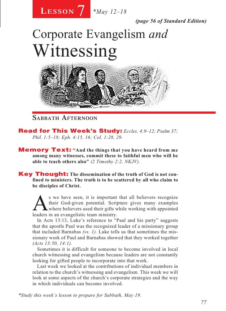 Lesson           7       *May 12–18                                                       (page 56 of Standard Edition)   ...