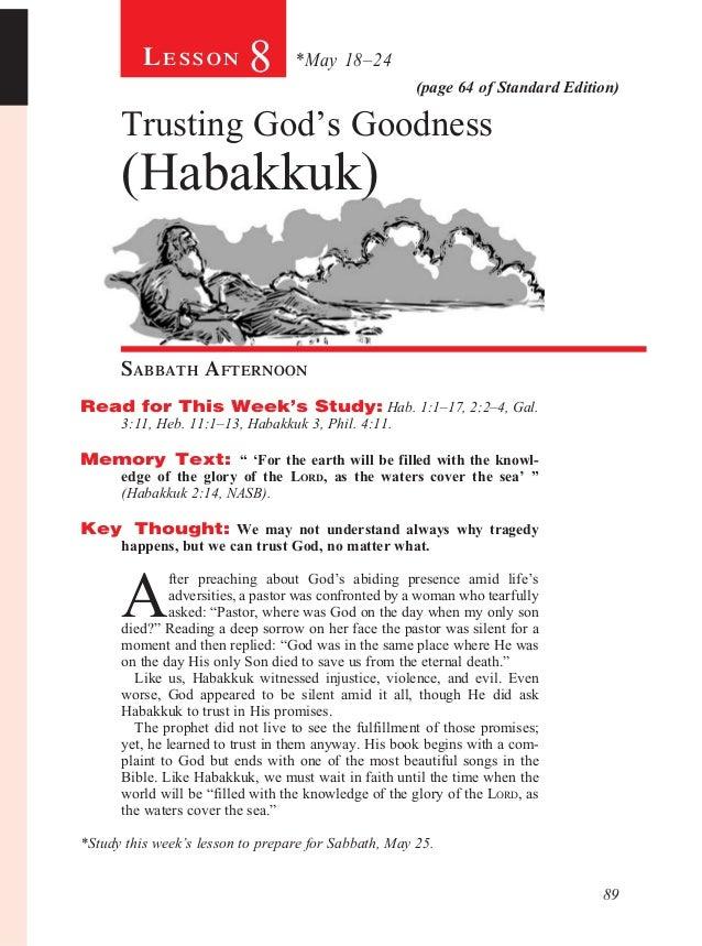 Sabbath School lesson 08
