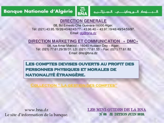 DIRECTION GENERALE 08, Bd Ernesto Che Guevara-16000 Alger. Tél: (021) 43.95.19/26/40/42/43/77 - 43.96.40 – 43.97.19/48/49/...