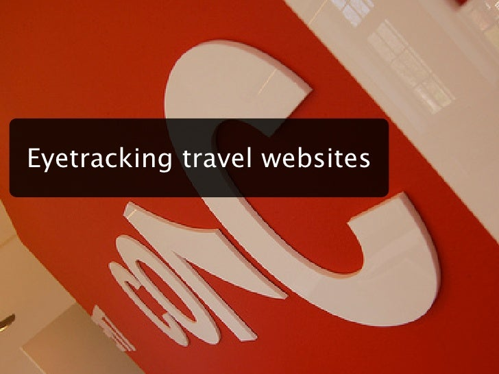 Eyetracking travel websites