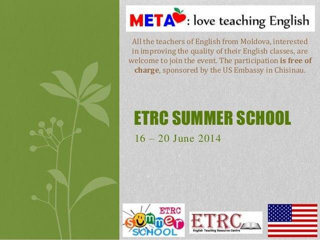 Etrc summer school