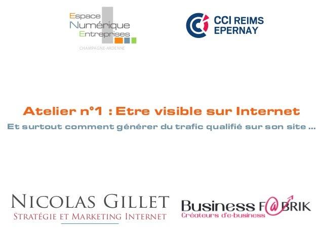 Etre visible sur le web à la CCI de Reims et d'Epernay dans le cadre du parcours Entreprise Numérique
