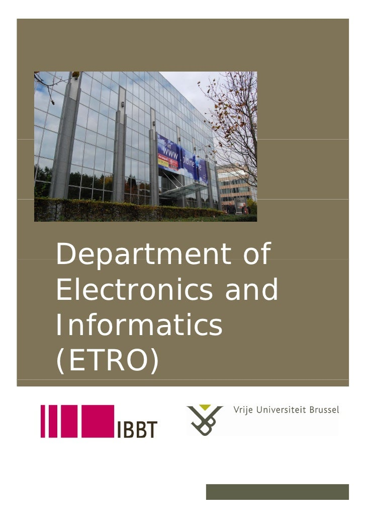 Department of      Electronics and      Informatics      (ETRO)   19/12/2007        1