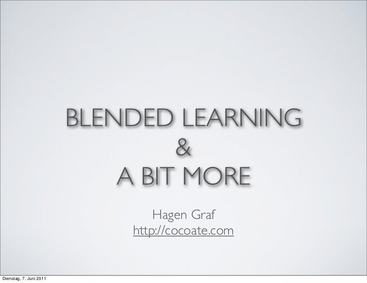 BLENDED LEARNING                                  &                             A BIT MORE                                ...