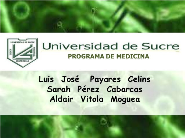 Luis José Payares Celins Sarah Pérez Cabarcas Aldair Vitola Moguea PROGRAMA DE MEDICINA