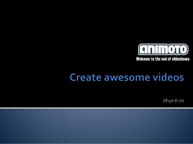    Animoto , a web application that provides and allows people    to create unique videos from their photo including and ...