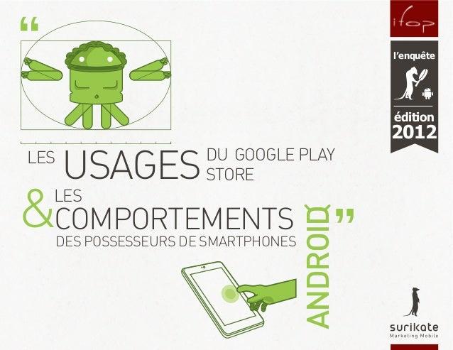 Etude Surikate/Ifop sur « le comportement des utilisateurs d'Android »