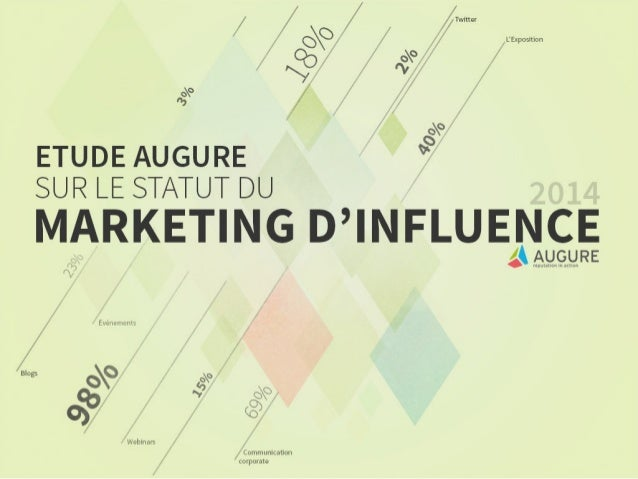 Etude Augure sur le marketing d'influence 2014