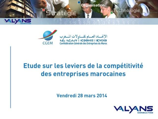 Étude sur les leviers de la compétitivité des entreprises marocaines par la CGEM