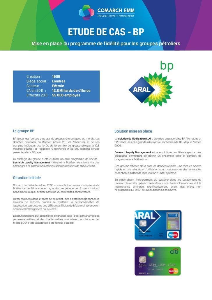 EMM                                                ETUDE DE CAS - BP                Mise en place du programme de fidélité...