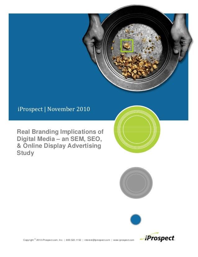 Etude digital media planning 2010