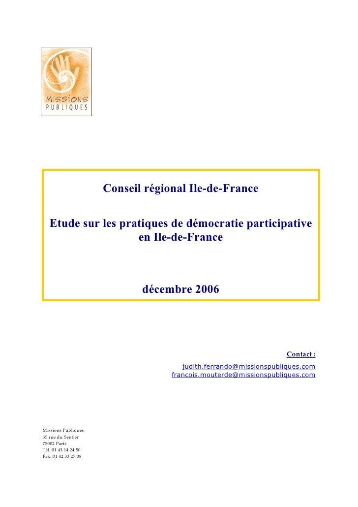 Etude Dp Idf Rapport Final