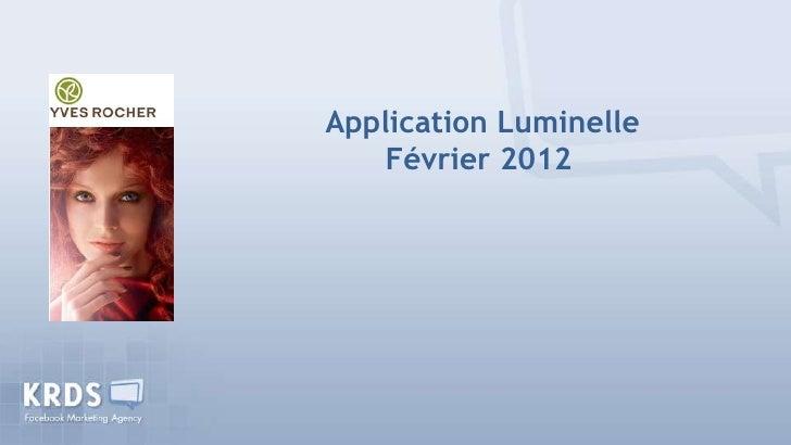 Application Luminelle    Février 2012