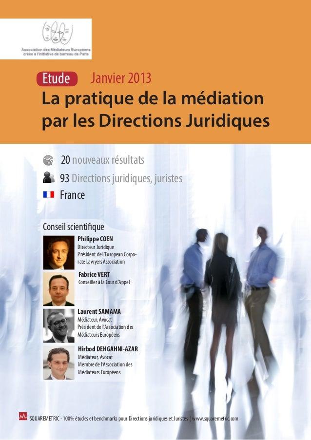 Etude de la pratique de la mediation par les dj   ame - squaremetric - 2013 h def