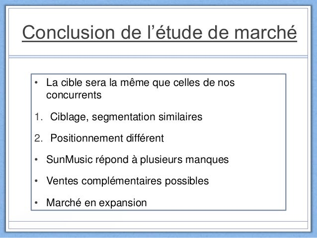 Tude de march sun music - Etude de marche cuisine ...