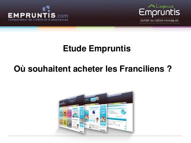 Etude Empruntis  Où souhaitent acheter les Franciliens ?