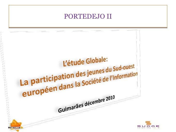 """Résultats étude """"jeunes et TIC"""" programme SUDOE"""