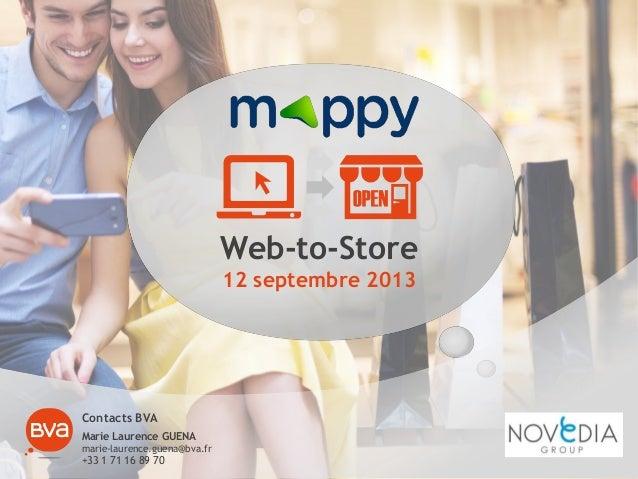 Etude mappy bva  web to store - 12092013