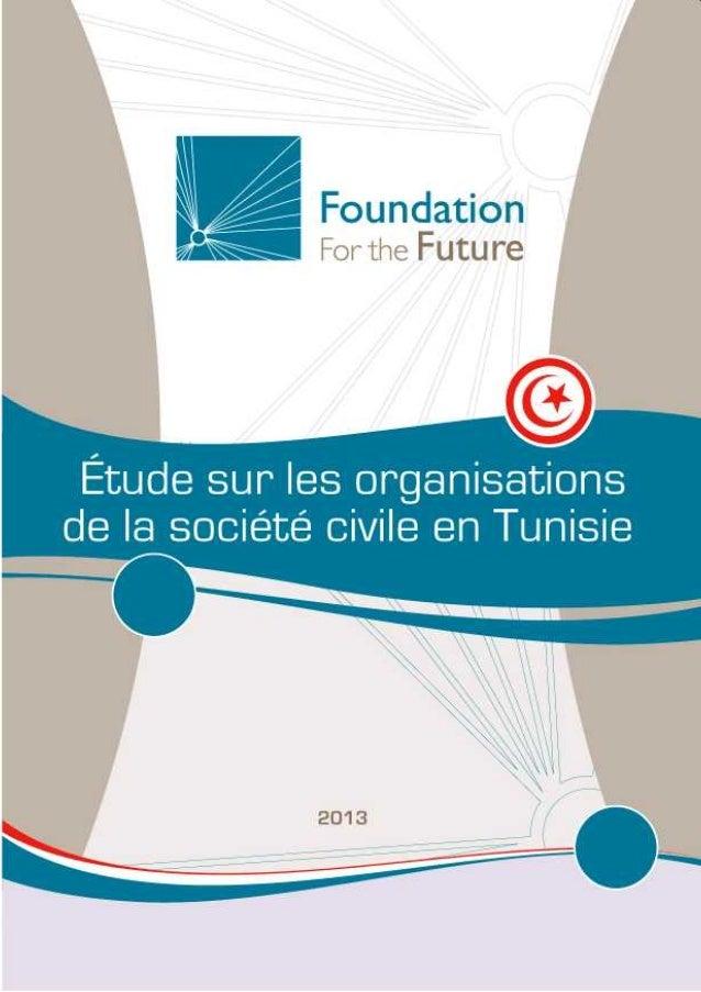 Étude sur les organisations de la société civile en Tunisie Rapport final Janvier 2013