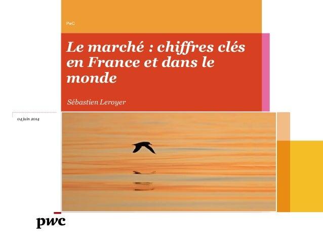 Le marché : chiffres clés en France et dans le monde PwC 04 juin 2014 Sébastien Leroyer