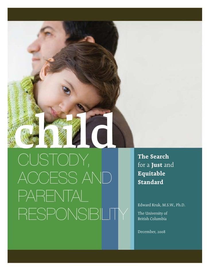 Etude QuéBéCoise Sur La Responsabilité Parentale DéCembre 2008
