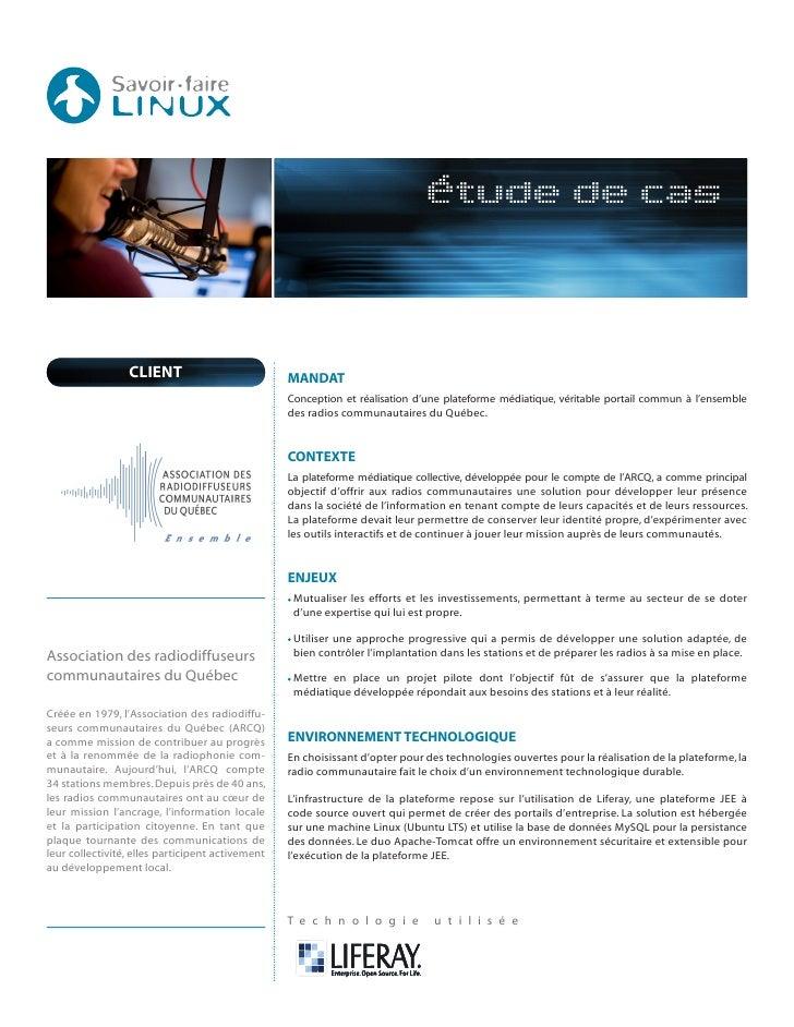 Liferay pour l'Association des radiodiffuseurs communautaires du Québec