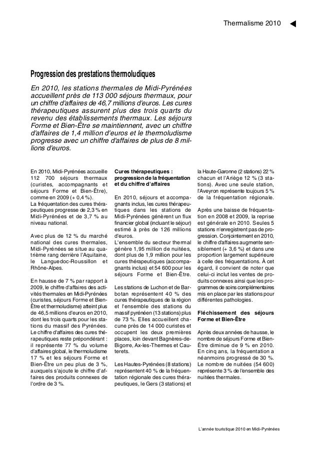 M                                                                                           Thermalisme 2010Progression de...