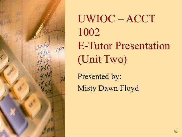 E Tutor Presentation - Unit Two