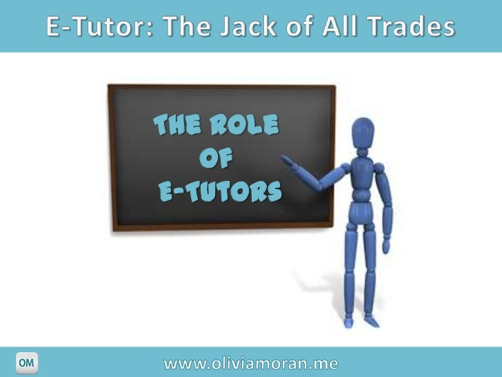 The Role   ofE-Tutors