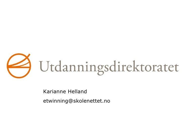 eTwinning ved Karianne Helland