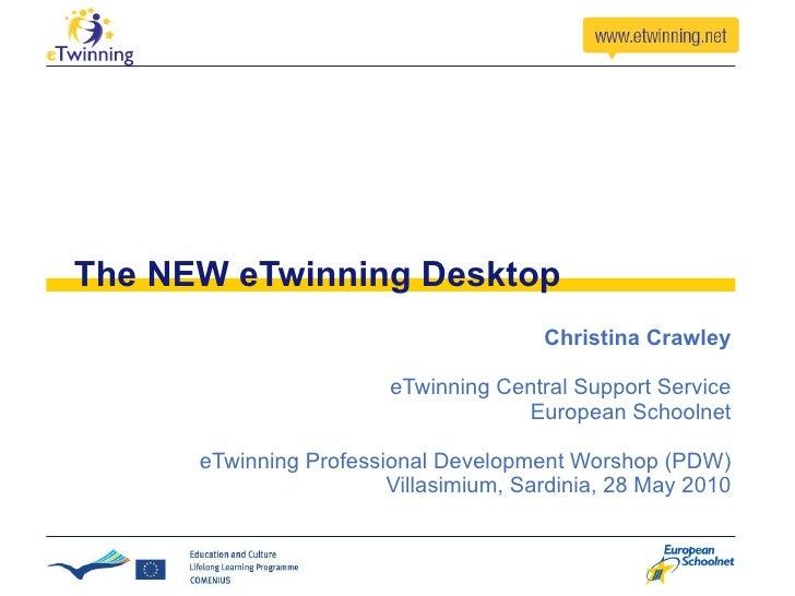 The NEW eTwinning Desktop Christina Crawley eTwinning Central Support Service European Schoolnet eTwinning Professional De...