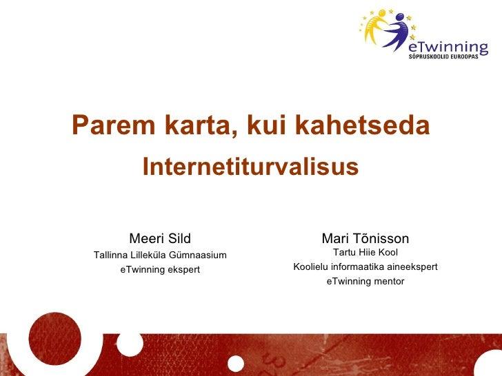Etwinning Turvalisus Tartu