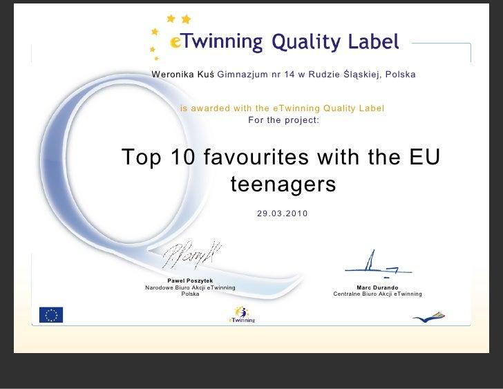 Quality Label 2010