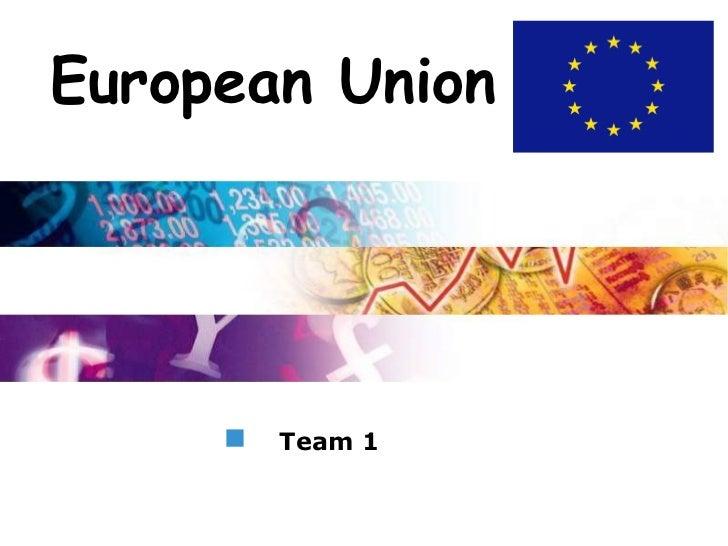 LogoEuropean Union       Team 1
