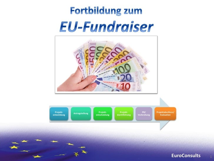 Fortbildung zum EU-Fundraiser 2012 - EuroConsults  Projekt-                       Projekt-       Projekt-         PR/     ...