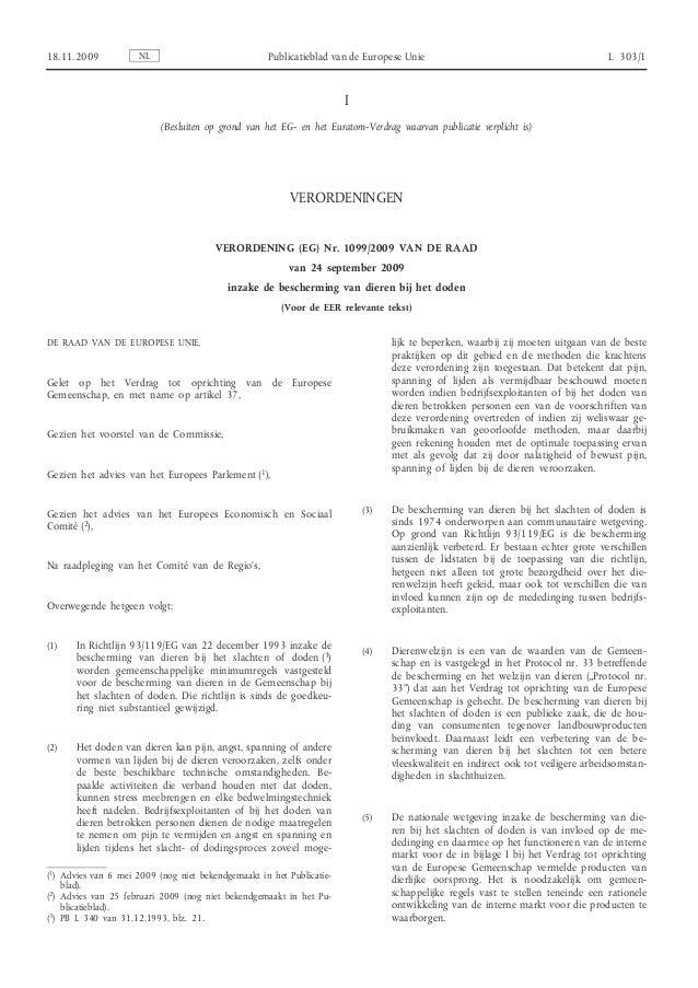 Verordening EU 1099/2009 NL