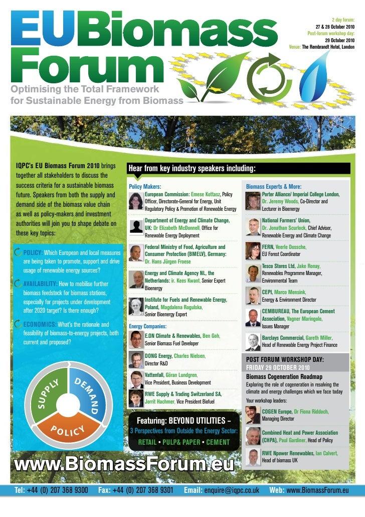 Eu Biomass Forum Brochure