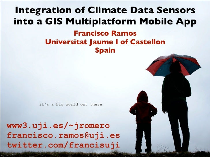 Integration of Climate Data Sensors into a GIS Multiplatform Mobile App