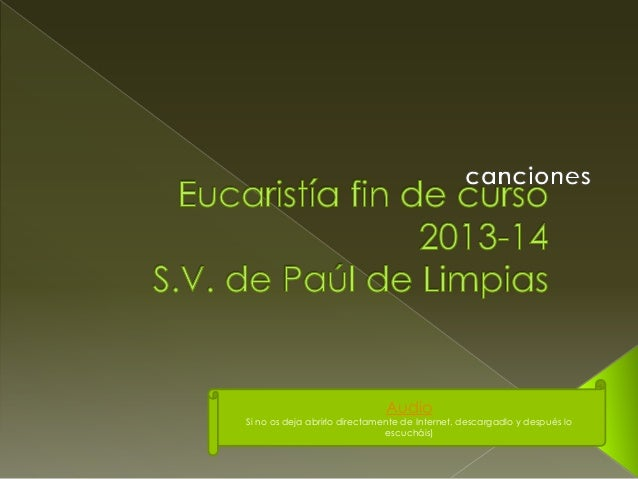Eucaristía fin de curso limpias 2013 14
